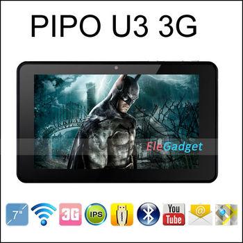 PIPO U3 3G rk3066 dual core tablet pc 7 Inch IPS Screen wcdma phone call Built in 3G GSM 1GB RAM 16GB ROM Camera Bluetooth HDMI