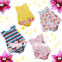 Retail,Carter's and Others Brand Baby Girls Flowers Romper Dress, Baby  Sleeveless Bodysuit Dress For Toddlers ( In Stock)