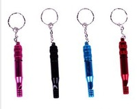 Camping survival whistle rescue whistle aluminum alloy whistle outdoor keychain