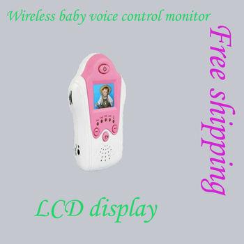 Wireless digital IR night vision video/baby camera voice control AV out monitor security surveillance install free shippingMJ106