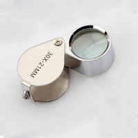 21mm jewelry metal magnifier folding portable 10 magnifier glass lenses