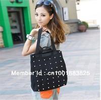 2013 Hot Sale Fashion Rivet Canvas Women Bags Handbag Lady  Rivet Canvas Shoulder Bag Handbags