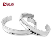 Titanium arc opening lovers bracelet fashion male bracelet heterochrosis