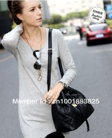 2013 Hot SaleEurope and America Popular women fashion color rhombus PU leather handbag shoulder bag  free shipping