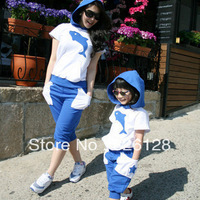 2013 summer beach family fashion set mother and child ,clothes for mother and daughter