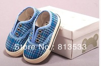 2013 children baby toddler shoes canvas casual plaid shoes free shipping