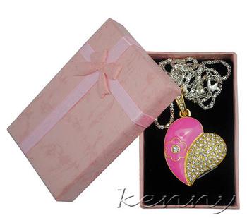 Free Shipping 4G/ 8G/16G/32G  Jewelry Heart Shape USB 2.0  Pen Drive Crystal Heart USB Memory Disk