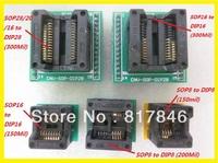 Free shipping IC Adapter Socket for USB Universal Programmer TL866CS TL866A  EZP2010 SOP16 to DIP16 SOP28 to DIP28 SOP8 to DIP8