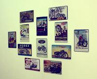 Metal painting tiepai fashion motorcycle decoration