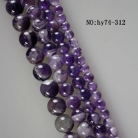 "Amethyst  beads A quality.16""one  string 8mm"