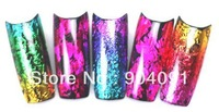 Free Shipping 20bottles/lot.35 colors Nail Art Foil Transfer Stciker Coloful Nail Art sticker with bottle package