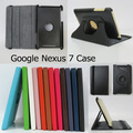 100pcs/lot 360 Degree Rotating Flip Case Cover Case Pouch Stand for Google nexus 7 free shipping