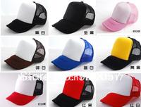 Plain trucker hats/caps Fashion car Driver cap mesh back hat fashion Unisex cap plain Hip-hop cap