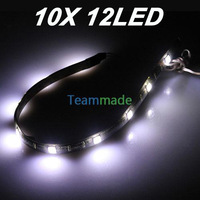 10 X LED Flexible Strip 5050 WHITE Car 12SMD 30CM  LED Flexible Strip Light Lamp Waterproof DRL 3 Chips