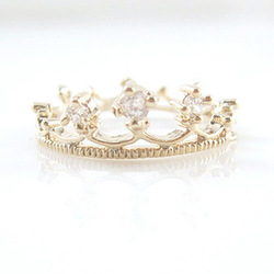 Min. order $15 (mix order) Fashion gold plated small rhinestone lover's exaggerated crown rings hot selling(China (Mainland))