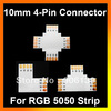 "Wholesale RGB 4-pin LED strip Connector 10mm for 5050 ( ""+"" shape/""T"" shape/""L"" shape for option)"
