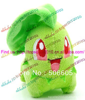 "Retail Free Shipping 4"" 10CM Pokemon Chikorita Plush Toy Soft plush Stuffed Animal Doll Toys 10pcs/lot"