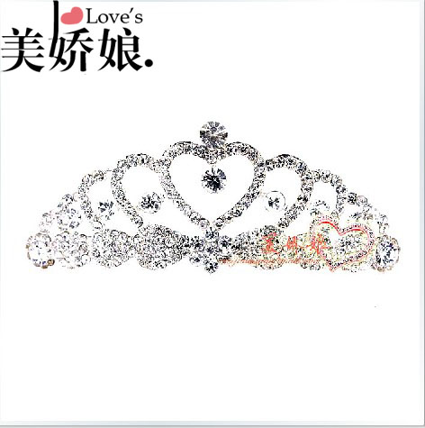 The bride accessories small hair accessory hair accessory sweet red white rhinestone(China (Mainland))