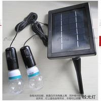 2W Solar Panel Lead 2 LED Bulbs Outdoor Solar Powered Lighting System/LED Lamp/Lights