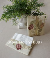 facial tissue bag paper bag embroidery bag for napkin women's bag