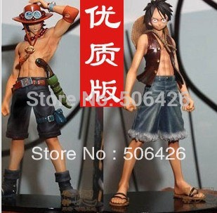 2013 New arrive Japan anime one piece Monkey.D.Luffy Portagas D Ace pvc figure set,free shipping toys gifts