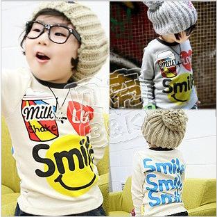 The new 2013 men and women render unlined upper garment of children's wear long sleeve T-shirt tx - 0129