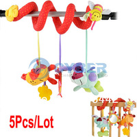 Wholesale 5Pcs/Lot Christmas Gift Mic Elc Multifunctional Baby Bed Hanging Car Hanging Newborn Toy Free Shipping 9796