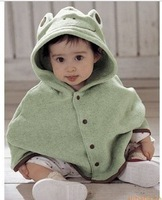 Kid's coat / children cotton clothes / clothing /  frog Cape/ blankets