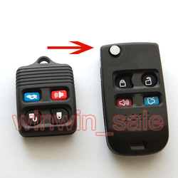 Freeshipping For FORD Expedition Focus 4 Buttons Folding Flip BLANK REMOTE KEY FOB CASE SHELL(China (Mainland))