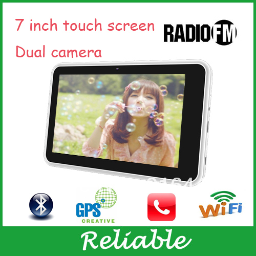 hot sales 7 inches tablets support gps navigation dual camera wifi support FM radio android 4.0 512MB ram ddr3(China (Mainland))
