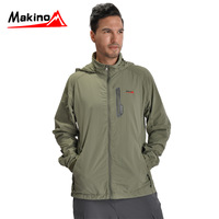 Makino ma spring and summer new arrival quick-drying shirts hooded long-sleeve male Women quick dry clothing