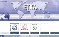 ETKA 7.3 FOR AUDI VOLKSWAGEN SKODA SEAT Auto software