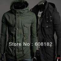 New Fashion Man long Jacket  male cotton parka winter coat  warmer sweatshirts  201208064