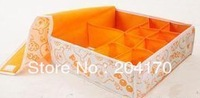 10 Plaid Moistureproof Storage Box Underwear Pants Storage Case