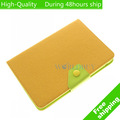 High Quality Fastion Button Leather Smart Cover Case Stand For Apple iPad Mini 7.9'' Tablet Free Shipping DHL UPS EMS HKPAM CPAM