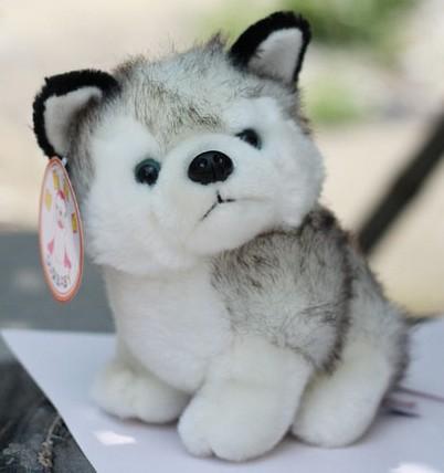 candice guo! super cute plush animal toy small dog gray husky stuffed toy birthday gift 20cm 1pc(China (Mainland))