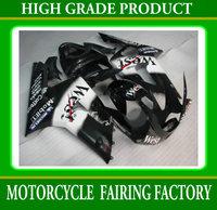 Custom black West motobike parts for KAWASAKI 03 04 ZX-6R 2003 2004 ZX6R ABS fairings kit racing  body work fairing