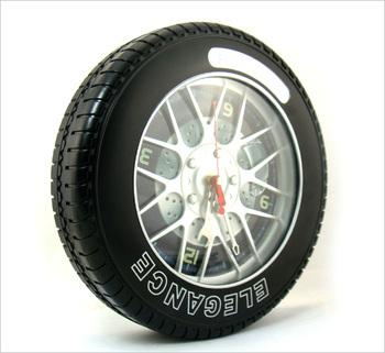 Fashion tyre model of the mute wall clock decoration clock art clock belt gear
