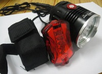 Free shipping Hot SKYRAY 35W 6000 Lumens 4x CREE XM-L T6 LED Bicycle bike HeadLight Headlamp Rear Light 6400mAh battery pack