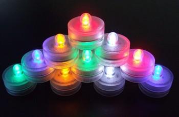 Waterproof candle lights submersible led light , tea light