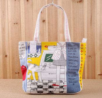 2013 women's bags canvas bag handbag shoulder bag school bag backpack