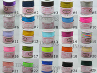 FREE SHIPPING 5 Rolls Mix-Color 1.0mm Rattail/Satin Nylon Cord Chinese Knot Beading Cord 80Yard/Roll--39 different colors