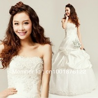 Princess wedding dresses 2012 latest strapless wedding dress with han edition set auger together