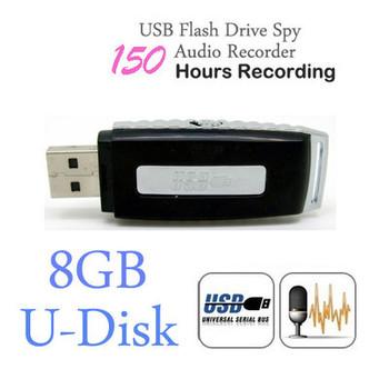 Mini 8GB USB Drive Digital Audio Voice Recorders Pen 150 Hours Black