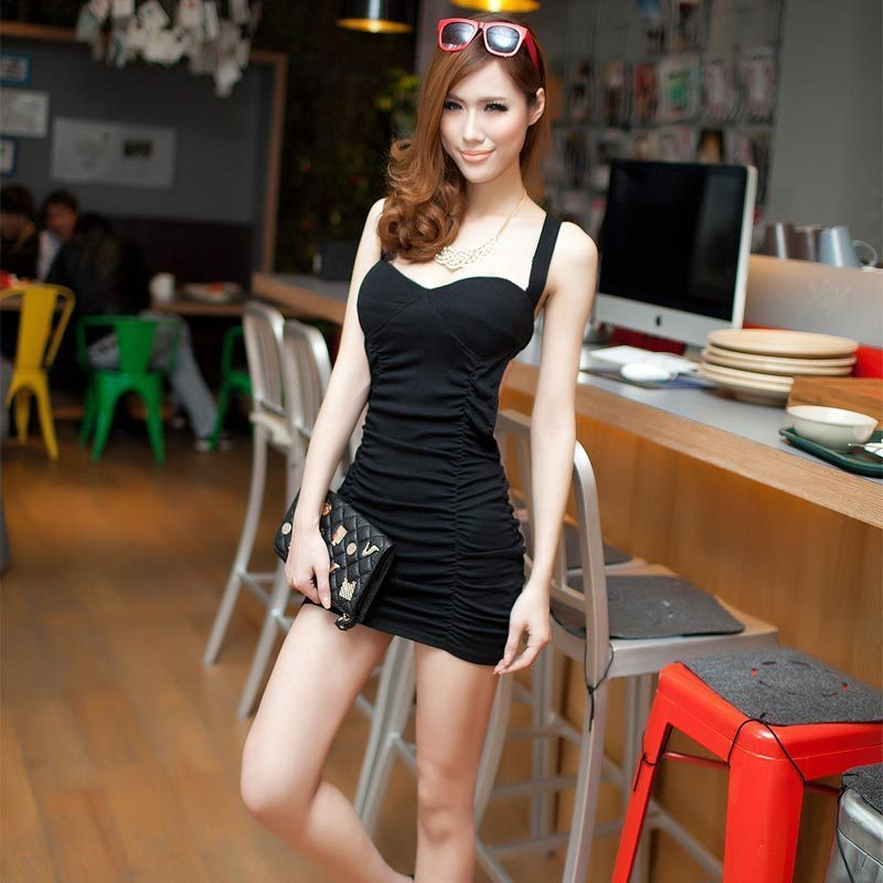Queen 2012 winter women's big racerback sexy slim hip slim one-piece dress dress(China (Mainland))
