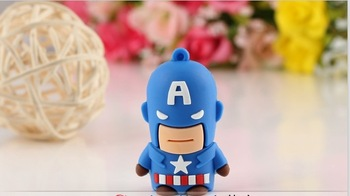Free shipping Wholesale novelty 2GB 4GB 8GB 16G 32G Captain America Green Lantern USB 2.0 Memory Flash  Drive