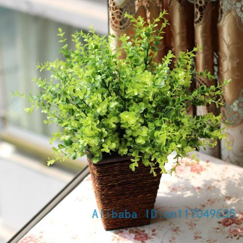 1 PCS Beautiful Artificial Green Plant Plastic Grass Bush Home Decoration F154(China (Mainland))