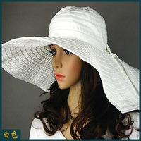 Free ship Large cap sun-shading sunscreen anti-uv beach cap big sun-shading cloth cap hat women's summer