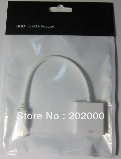 New HDMI Male to VGA RGB Female HDMI to VGA Video cable Converter adapter 1080P for PC free shipping(Hong Kong)