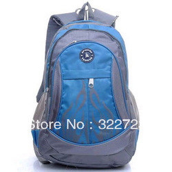 free shipping 2013 spring casual sports nylon backpack student school bag men and women bags(China (Mainland))